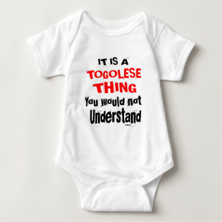 IT IS TOGOLESE THING DESIGNS BABY BODYSUIT