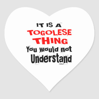 IT IS TOGOLESE THING DESIGNS HEART STICKER