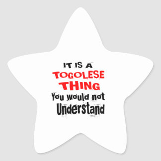 IT IS TOGOLESE THING DESIGNS STAR STICKER