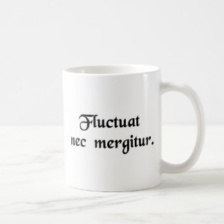 It is tossed by the waves but it does not sink basic white mug