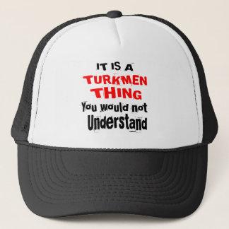 IT IS TURKMEN THING DESIGNS TRUCKER HAT