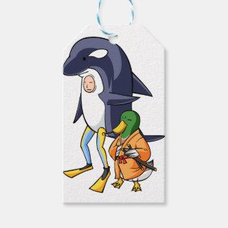 It is turn! Duck teacher! English story Kamogawa Gift Tags