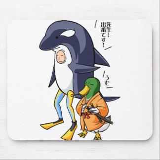 It is turn! Duck teacher! English story Kamogawa Mouse Pad