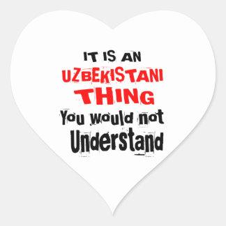 IT IS UZBEKISTANI THING DESIGNS HEART STICKER