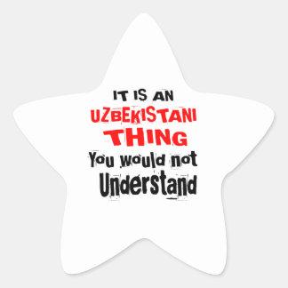 IT IS UZBEKISTANI THING DESIGNS STAR STICKER