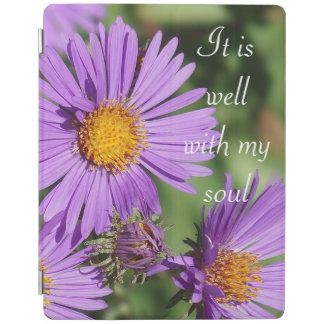 It Is Well New England Aster iPad Cover