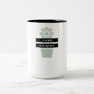 It is well Two-Tone coffee mug