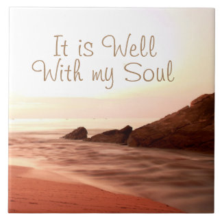 It is Well With My Soul, Beloved Hymn Large Square Tile
