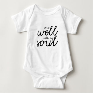It Is Well With My Soul (Black) Baby Bodysuit