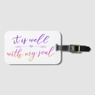 """it is well with my soul"" luggage tag w/ card slot"