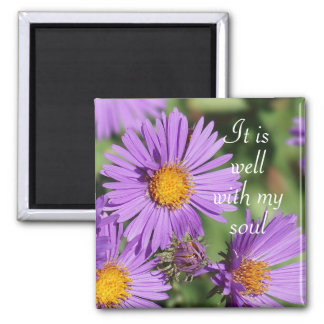 It is Well with My Soul New England Aster Magnet