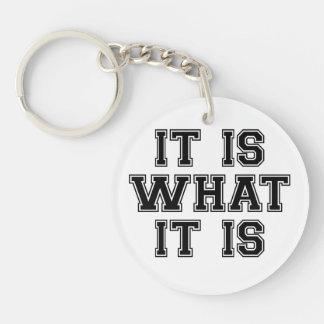 It Is What It Is Black Key Ring