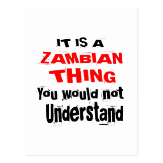 IT IS ZAMBIAN THING DESIGNS POSTCARD