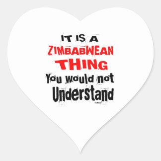 IT IS ZIMBABWEAN THING DESIGNS HEART STICKER