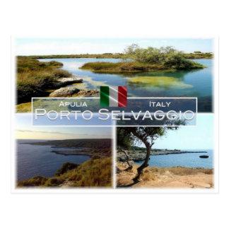 IT Italy - Apulia - Puglia - Porto Selvaggio - Postcard