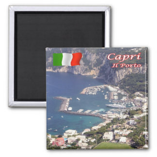 IT - Italy - Capri - The Port Square Magnet