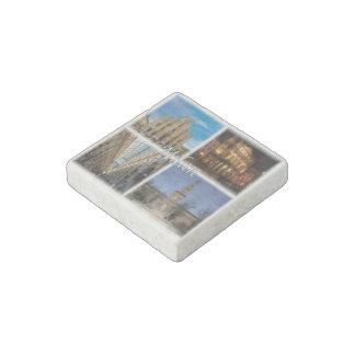 IT Italy - Italia - Milano - Duomo - Sforza Castle Stone Magnet