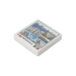 IT Italy - Italia - Milano - I Love Mosaico - Stone Magnet