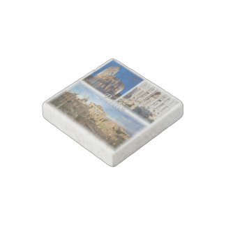 IT Italy -  Italia - Rome - Colosseum - Stone Magnet