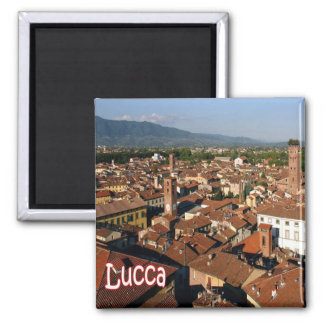 IT - Italy - Lucca Square Magnet