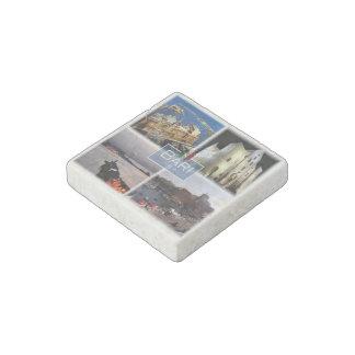 IT Italy - Puglia - Bari - Harbor - Stone Magnet
