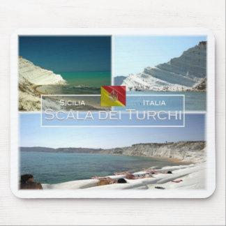 IT Italy - Sicilia - Scala dei Turchi - Mouse Pad