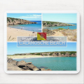 IT Italy - Sicily - Calamosche Beach - Mouse Pad