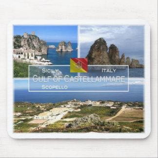 IT Italy - Sicily - Golfo di Castellammare - Mouse Pad