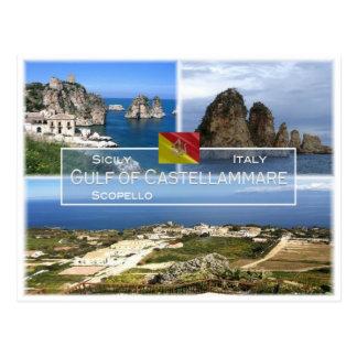 IT Italy - Sicily - Gulf of Castellammare - Postcard
