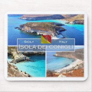 IT Italy - Sicily - Isola dei Conigli - Mouse Pad