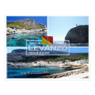 IT Italy - Sicily - Isole Egadi - Levanzo - Postcard