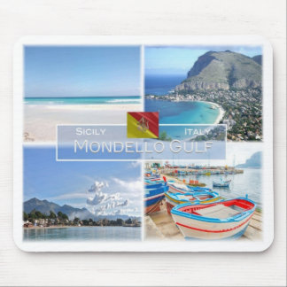 IT Italy - Sicily - Mondello Gulf - Mouse Pad