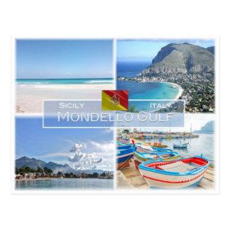 IT Italy - Sicily -  Mondello Gulf - Postcard