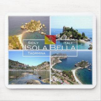 IT Italy - Sicily - Taormina - Isola Bella - Mouse Pad