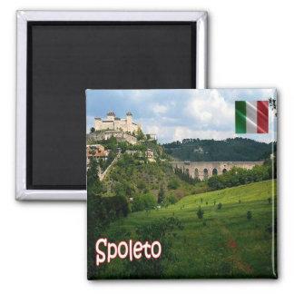 IT Italy Spoleto Rocca Albornoz Ponte delle Torri Magnet