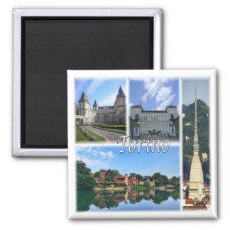 IT * Italy - Torino Turin Square Magnet