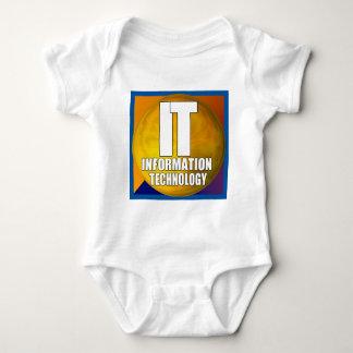 IT LOGO - INFORMATION TECHNOLOGY INFANT CREEPER
