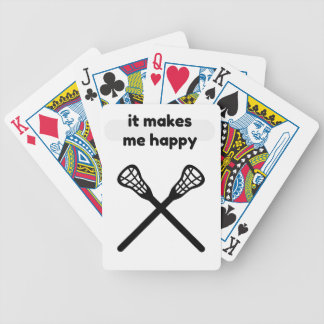 It Makes Makes Me Happy-Lacrosse Bicycle Playing Cards