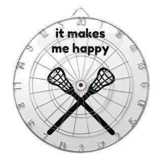 It Makes Makes Me Happy-Lacrosse Dartboard