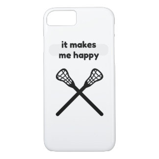 It Makes Makes Me Happy-Lacrosse iPhone 8/7 Case