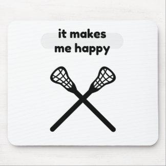It Makes Makes Me Happy-Lacrosse Mouse Pad