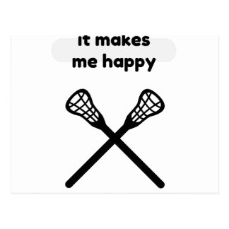 It Makes Makes Me Happy-Lacrosse Postcard