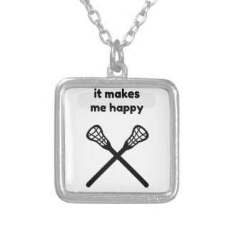 It Makes Makes Me Happy-Lacrosse Silver Plated Necklace