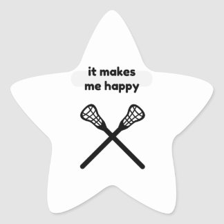 It Makes Makes Me Happy-Lacrosse Star Sticker