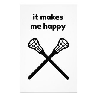 It Makes Makes Me Happy-Lacrosse Stationery