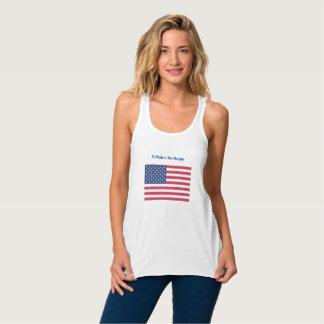 It Makes Me Happy-American Flag Singlet