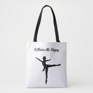 It Makes Me Happy-Dancing Tote Bag