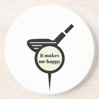 It Makes Me Happy-Golf Mug Drink Coasters