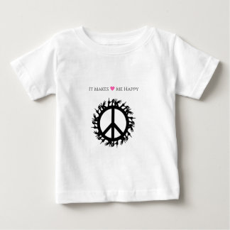 It Makes Me Happy-Peace Baby T-Shirt