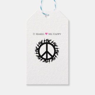 It Makes Me Happy-Peace Gift Tags